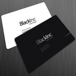 Black inc free business card 520x37150g pvc cards reheart Gallery