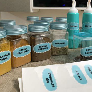 Jar Label (Label Balang Dapur)