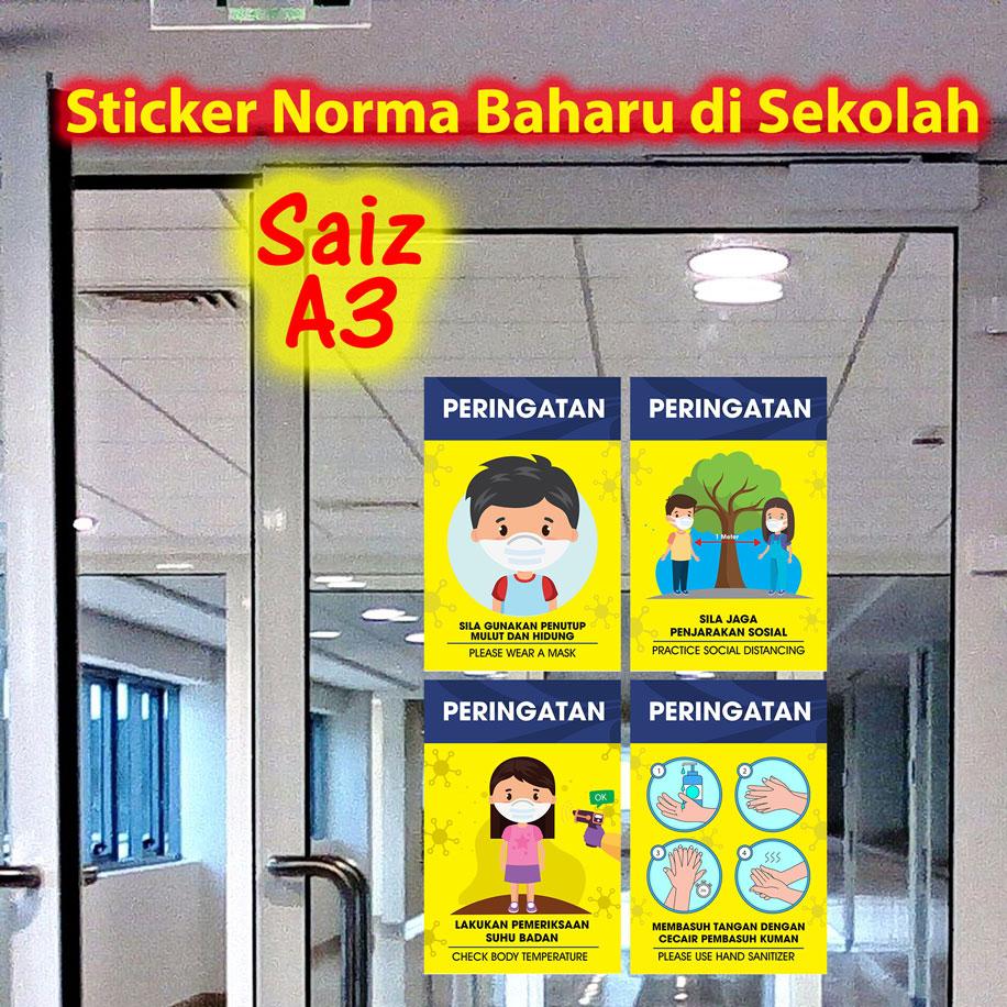 Sticker Norma Baharu di Sekolah