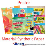 Poster synthetic paper used for advertisers particularly of events musicians and film proopagandist protestors and group trying to communicate a