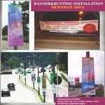 Banner Bunting Installation
