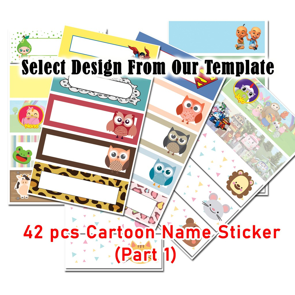 Cartoon / Color  Name Sticker