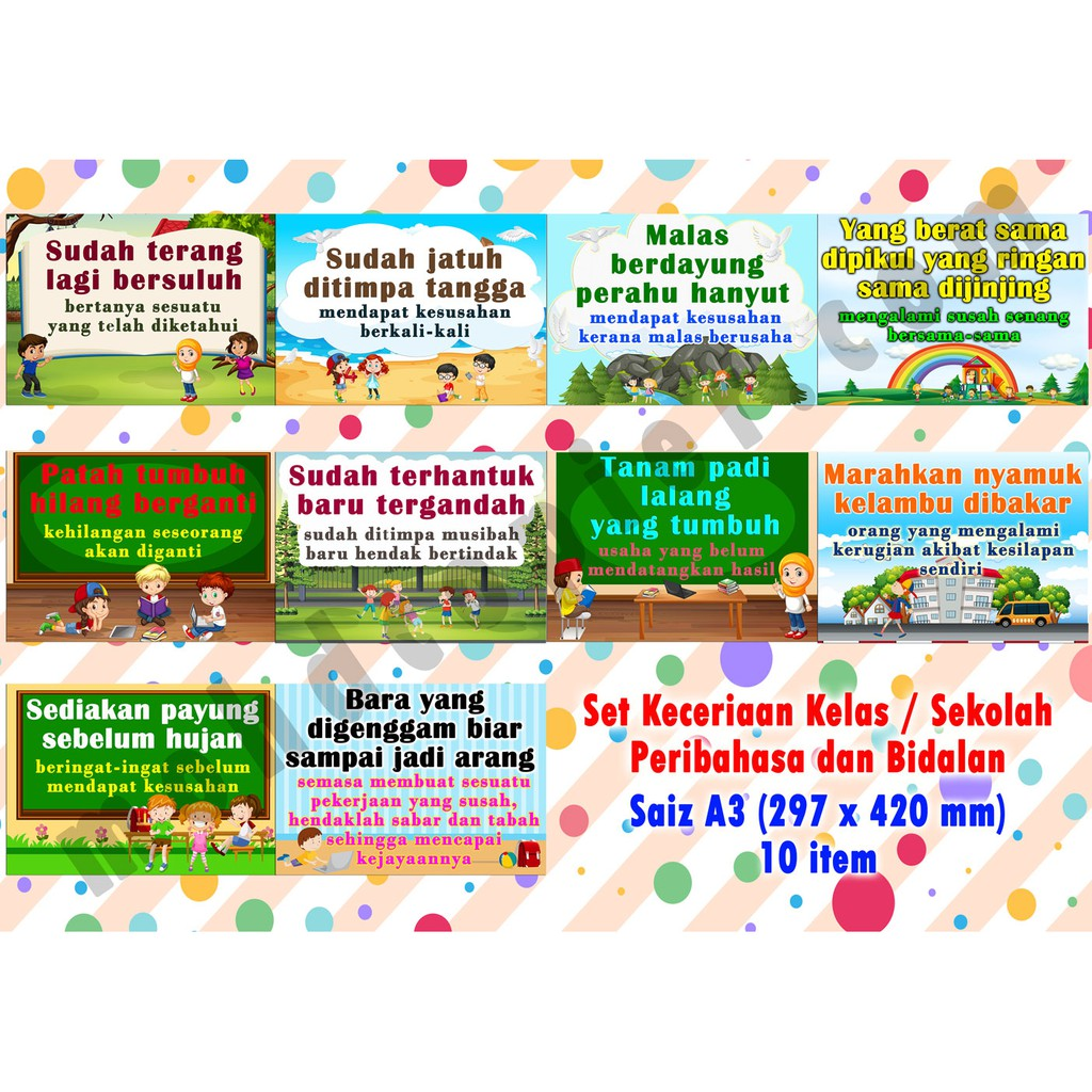 Peribahasa A3 (10pcs/set)
