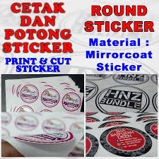 Mirror Coated Round Sticker Labels