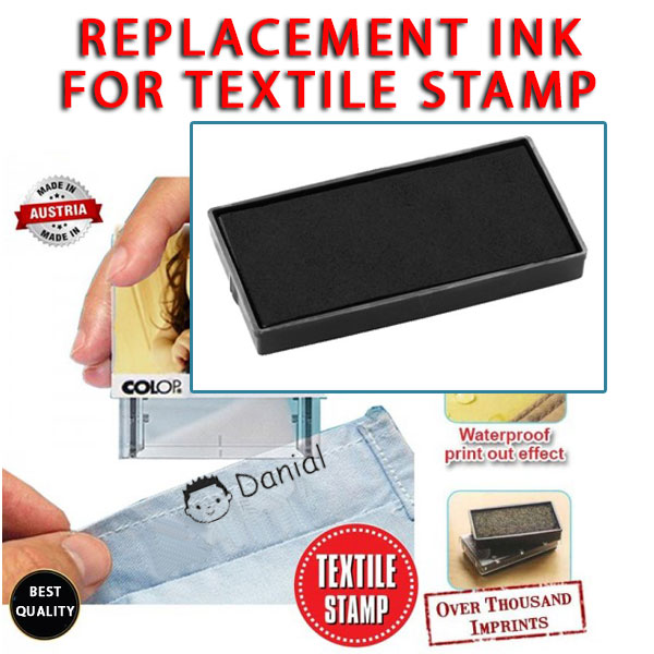 Replacement Ink Pad Textile Stamp