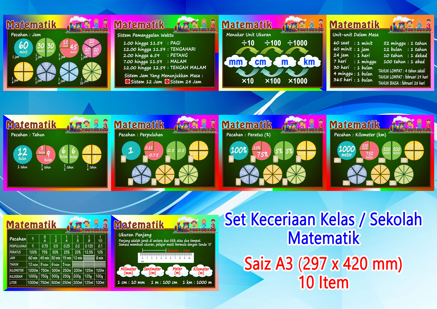 Matematik A3 (10pcs/set)