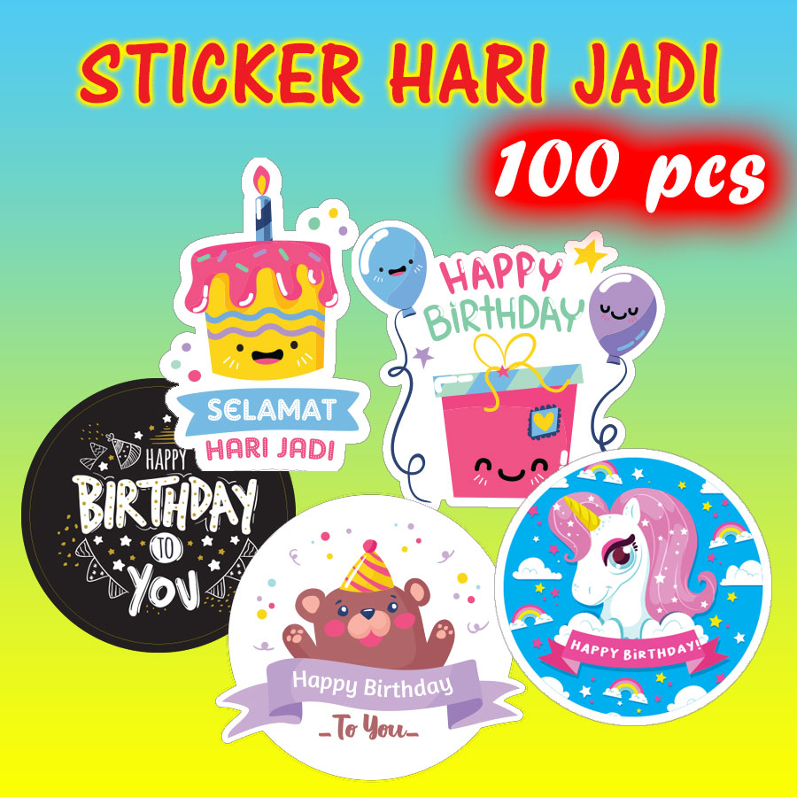 Ready Made Sticker Doorgift Hari Jadi / Birthday