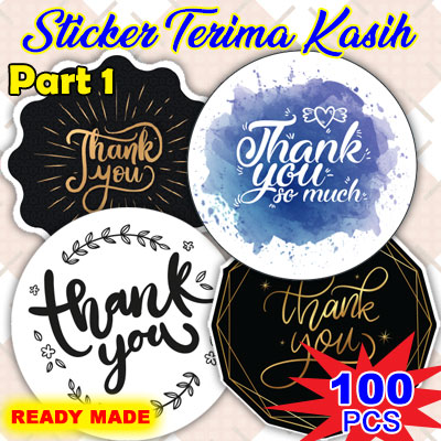 Ready Made Sticker Doorgift Terima Kasih / Thank You